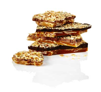 Expertly crafted toffee