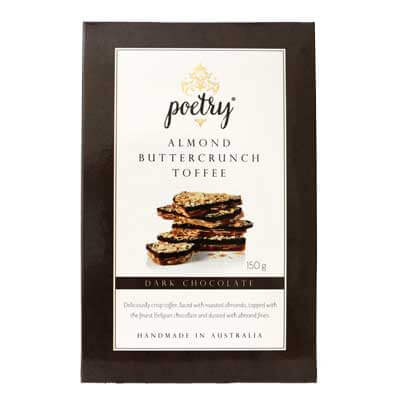 Poetry Fine Foods Dark Chocolate Almond Buttercrunch Toffee