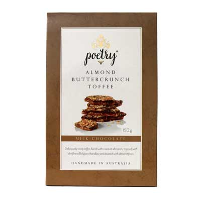 Poetry Fine Foods Milk Chocolate Almond Buttercrunch Toffee