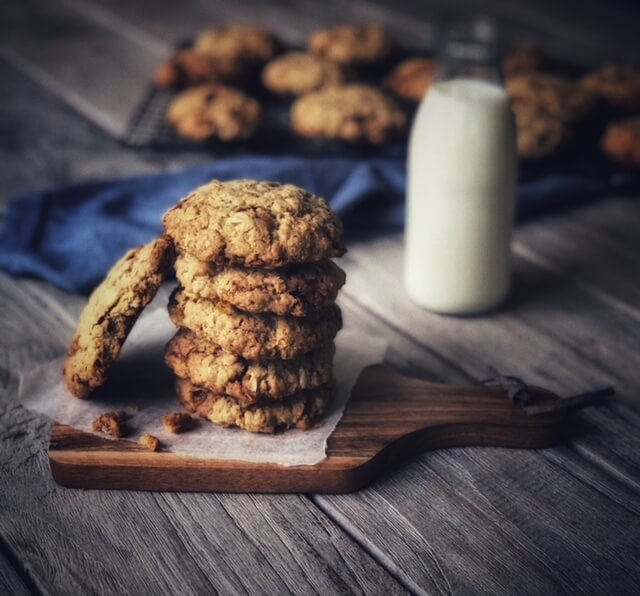 Poetry Almond Toffee Oatmeal Cookies